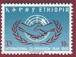 1965 - International Cooperation Year - Mi:ET 518 - ** - MNH - Ethiopie