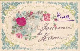 Hannut - Souvenir De (gaufrée, Roses, Colombes, 1906) - Hannut
