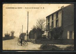 Dt 78  CARRIERES Sur SEINE  Route De St Germain - Carrières-sur-Seine