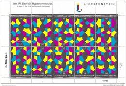 Liechtenstein 2016 Artwork Kunst Collection Sheet 5 Hypersymmetrics — Jens W. Beyrich MNH Self-adhesive