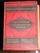 Ungarisch-deutsches Und Deutsch-ungarisches Taschenwörterbuch 1899 - Dictionaries