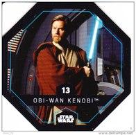 STAR WARS 2015 Vignette Jeton Image Carte LECLERC 13 OBI WAN KENOBI - Episodio I