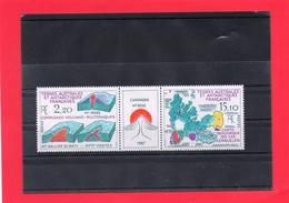 TAAF Triptyque ( Carte Géologique Des Iles KERGUELEN )2,80 - Poste Aérienne