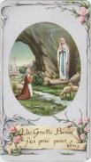 SANTINO  HOLY CARD - *** MADONNA Di LOURDES *** Ed. FB Fratelli Bonella, Serie Lourdes 4 - Preghiera In Francese - Devotieprenten