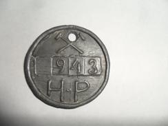 ANCIEN JETON VESTIAIRE D'OUVRIER / H.P  MARTELAGE  / PLOMB - Obj. 'Souvenir De'