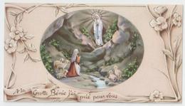 SANTINO  HOLY CARD - *** MADONNA Di LOURDES *** Ed. FB Fratelli Bonella, Serie Lourdes 6 - Preghiera In Italiano - Devotieprenten