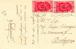 Cent. 20 Decennale Di Fiume Su Cartolina Panorama Golfo Di Napoli 1934 - 1900-44 Vittorio Emanuele III