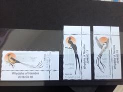 Namibië / Namibia - Postfris / MNH - Complete Set Whydahs Vogels 2016 NEW! - Namibië (1990- ...)