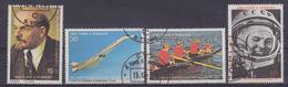 Sao Tome E Principe 1978 60th Anniversary Russian Revolution  / Space, Lenin 4v Used Cto (34340) - Sao Tome En Principe