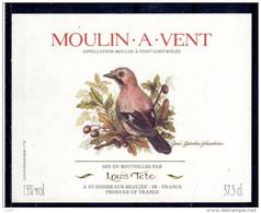 THEME OISEAUX étiquette De Vin MOULIN A VENT / GEAI 37,5cl - Parrots