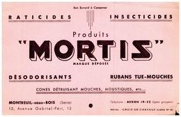 D Dé/ Buvard Dératisation Mortis (N= 1) - Blotters
