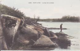 29 CPA PONT AVEN , Bas De La Rivière, Pêcheur, 2 Scans - Pont Aven