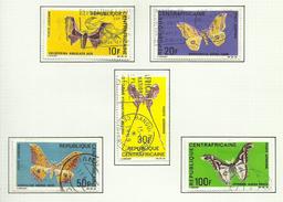 République Centrafricaine POSTE AERIENNE N°69 à 73 Cote 7.50 Euros - Central African Republic