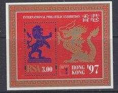 South Africa 1997 International Philatelic Exhibition Hong Kong '97 M/s ** Mnh (34343B) - Blokken & Velletjes