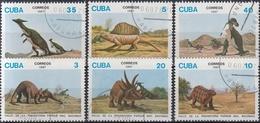 CUBA 1987 PREHISTORICOS USADO - Sellos