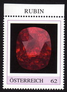 ÖSTERREICH 2015 ** RUBIN - Edelstein, Mineralien - PM Personalized Stamp MNH - Mineralien