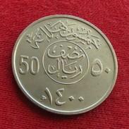 Saudi Arabia 50 Halala 1979 - 1980 / 1400 KM# 56 Arabia Saudita Arabie Saoudite - Saudi Arabia