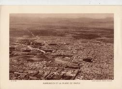 MARRAKECH ET LA PLAINE DU HAOUZ, MAROC, Planche Densité = 200g, Format: 20 X 29 Cm, (Cie Aérienne Française) - Historical Documents