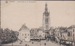 Kortrijk Groote Markt En St. St Martinuskerk Sint Grote Markt Oude Postkaart - Kortrijk