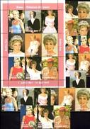 Memorial Diana 1997 Obervolta 1488/6,ZD,KB ** 54€ Lady Di Flower Princess Of Wales Bloc M/s Sheetlet Bf Burkina Fas - Burkina Faso (1984-...)