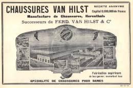 1928 - HERENTALS - Manufacture De Chaussures VAN HILST - No Postcard - Publicidad