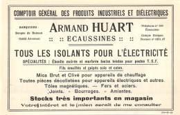 1928 - ECAUSSINES - Produits Industriels Et Diélectriques - Armand Huart - No Postcard - Advertising