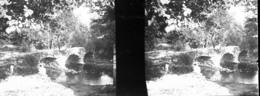 H0027 - PONT ROMAIN à Identifier - Plaques De Verre