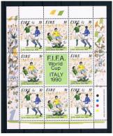 Irlanda - 1990 - Nuovo/new MNH - Calcio - Foglio Intero - Mi N. 712/13 - 1949-... République D'Irlande
