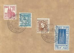 Germania - Occupazione Anglo-Americana - 1948 - Usato/used - Koln - Mi N. 69/72 - Amerikaanse-en Britse Zone