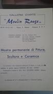 """Invito Della Galleria D'arte """"Moulin Rouge"""" Di Brindisi - Anni '60 - Programmi"""