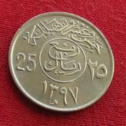 Saudi Arabia 25 Halala 1976 - 1977  / 1397 KM# 55 Arabia Saudita Arabie Saoudite - Saudi Arabia