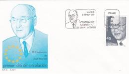 Spain FDC 1988 Jean Monnet (T5-3) - FDC