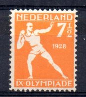 Netherlands - 1928 - 7½ Cents Olympic Games/Shot Put - MH - 1891-1948 (Wilhelmine)