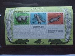 JAMAICA MONGOOSE MINISHEET 1972 MNH - Jamaica (1962-...)