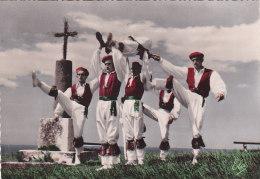 """Bf - Cpsm Grand Format Ballets Basques De Biarritz OLDARRA """"TXANKARRENKUA"""" Dans Du Chef Mort (Biscaye) - Biarritz"""