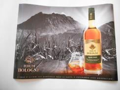 Affiche Rhum BOLOGNE - Rhum Vieux Agricole - 30x 40 Cm - Basse-Terre - GUADELOUPE - Avec Le Décor De La Soufrière - - Posters