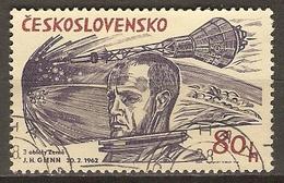 TCHECOSLOVAQUIE     -    1964.   Y&T N°1333 Oblitéré.   Glenn Et Friendship VII - Used Stamps
