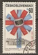 TCHECOSLOVAQUIE     -    1964.   Y&T N°1348 Oblitéré.    Festival Du FILM - Gebraucht
