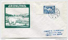 GROENLAND LETTRE DEPART SCORESBY SUND 13-7-1939 POUR LES ETATS-UNIS - Brieven En Documenten