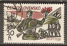 TCHECOSLOVAQUIE     -    1965.   Y&T N°1400 Oblitéré.  Libération. - Gebraucht