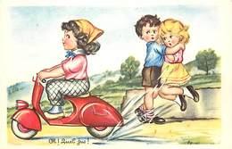 Ref N581- Illustrateur Enfants - Transports - Le Scooter -theme Scooters    -carte Bon Etat  - - Cartes Postales
