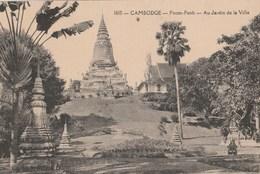 CPA  CAMBODGE PNOM-PENH JARDIN DE LA VILLE
