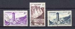 ANDORRE FR- 1955- 141-144-145 (o)
