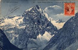 ROCHE MEANE (3700 M) - Environs Du Refuge De L'Alpe. Carte écrite En 1910. 2 Scans - Non Classés