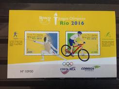 Costa Rica - Postfris / MNH - Sheet Olympische Spelen Rio 2016 NEW! - Costa Rica