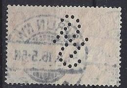 Germany 1915-19  Kaiserreichts  1m (o) Mi.94 B II (Perfin. SH) - Germany