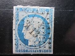 VEND TIMBRE DE FRANCE N° 4 , P.C. 3613 ( VILLEMOMBLE ) !!!! - 1849-1850 Ceres