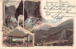 Gruss Aus Lana Mit Gasthof Z. Teiss 1898 Litho - Other Cities