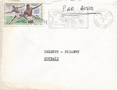 Centrafrique RCA CAR 1964 Bangui Olympic Games Tokyo Javelin Throwing Coffee Cover - Centraal-Afrikaanse Republiek