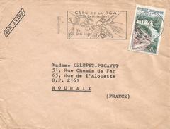 Centrafrique RCA CAR 1967 Bangui Waterfall Chute Fall Boali Coffee Cover - Centraal-Afrikaanse Republiek